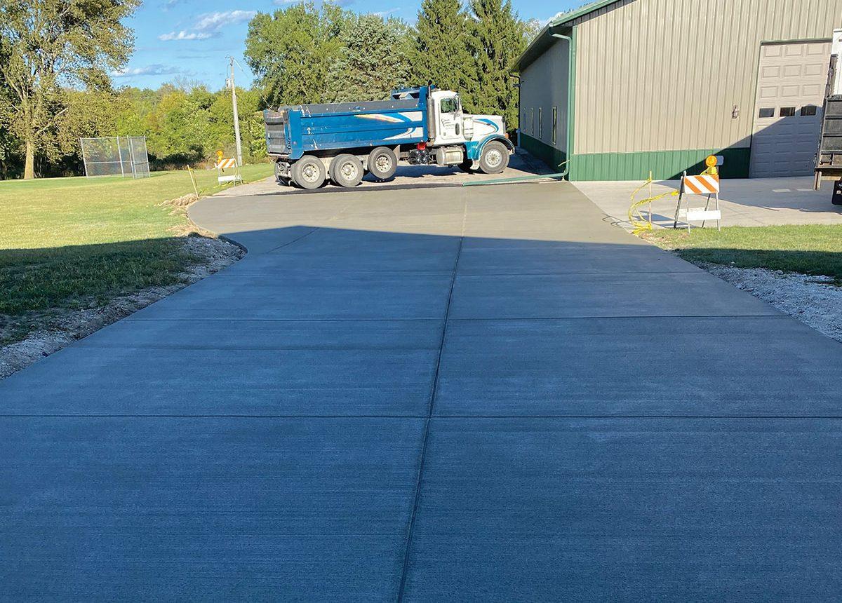 complete concrete construction ccc shop agricultural paved driveway