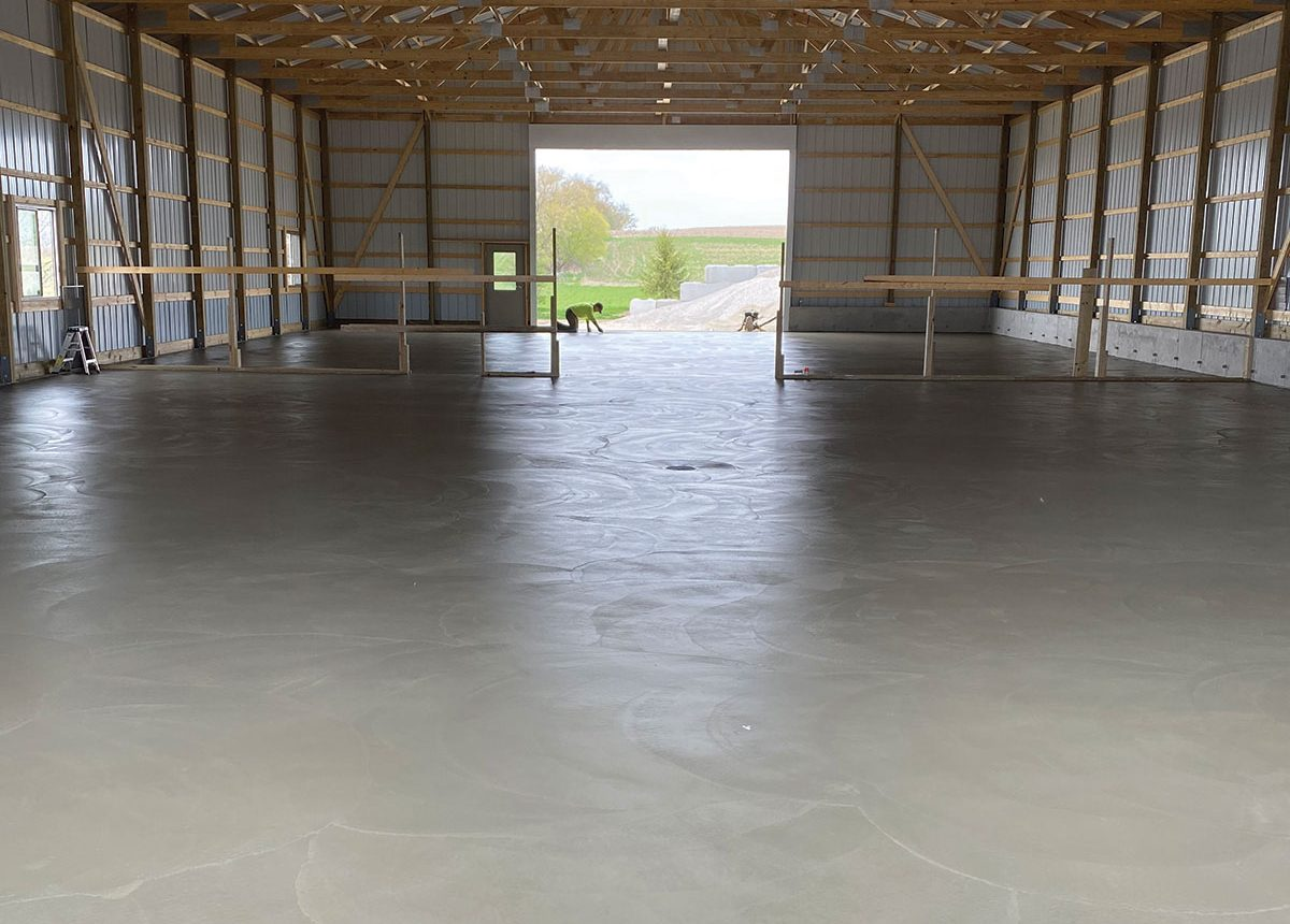 complete concrete construction farm barn agricultural paved flooring